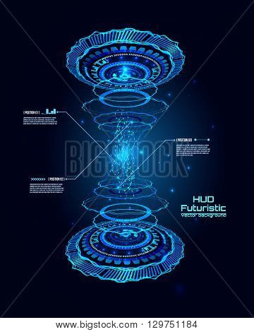 Futuristic interface, HUD,  vector background, transition illstration, sci-fi elements