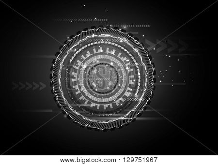 Sci fi futuristic user interface. hi-tech computer digital technology concept, Vector illustration.