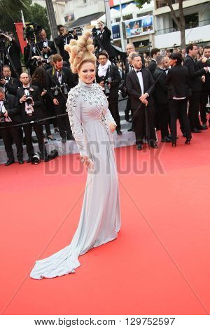 Elena Lenina attends 'The BFG' premier during the 69th Annual Cannes Film Festival on May 14, 2016 in Cannes.