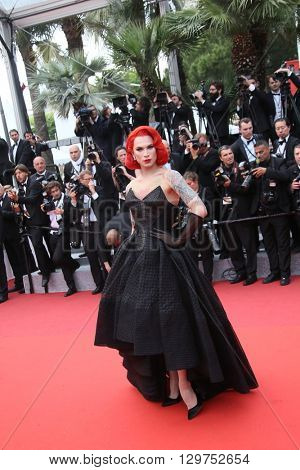 Miss Fame attends 'The BFG' premier during the 69th Annual Cannes Film Festival on May 14, 2016 in Cannes.