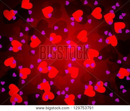 Background of abstract hearts, vector art illustration.