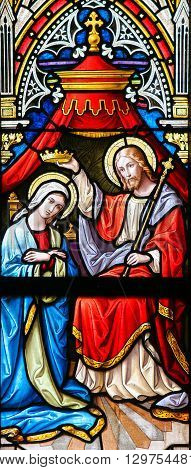 Stained Glass - Coronation Of The Virgin