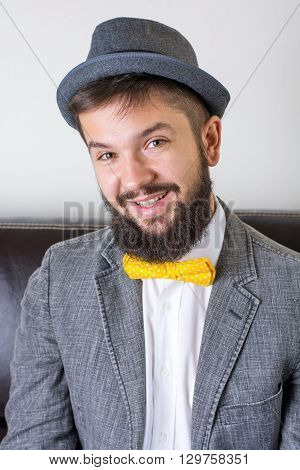 Bearded Man With A Bow Tie
