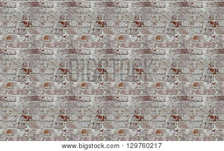Abstract background with old red brick wall