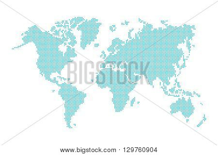World map ( dotted style ) on white background