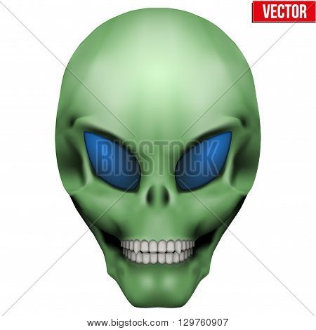 Vector Creative Humanoid alien skull. Illustration isolated on background