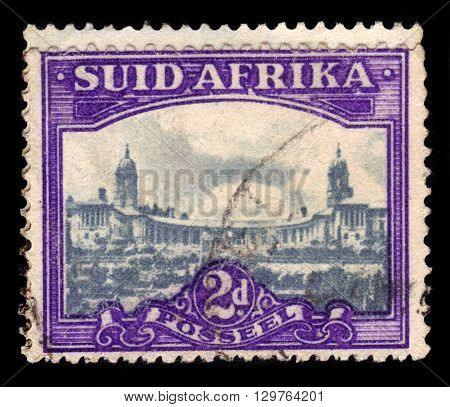South Africa - CIRCA 1950: A stamp printed in Republic of South Africa shows Union House in Pretoria, Government Buildings, circa 1950
