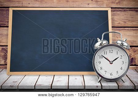 Image of ac chalkboard against wooden planks background