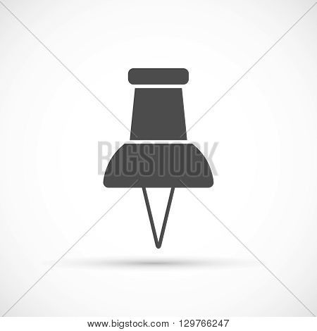 Push pin icon. Office tool. Reminder or attach symbol