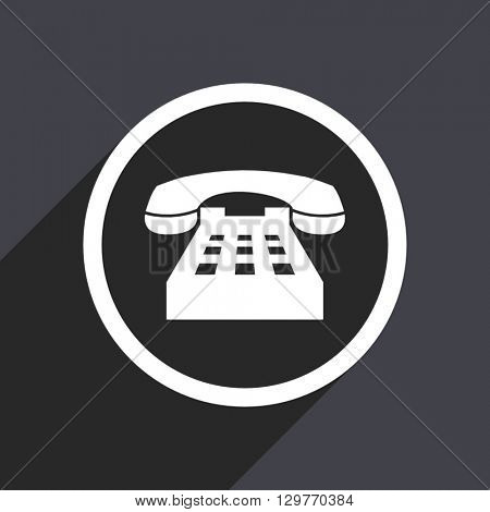 flat design phone modern vector icon