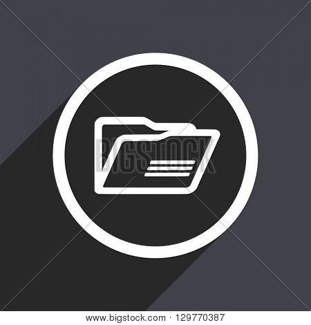 flat design folder modern vector icon