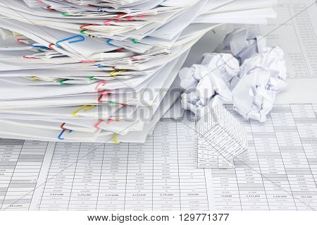 Bankruptcy House Have Blur Paper Ball And Document Place Confused
