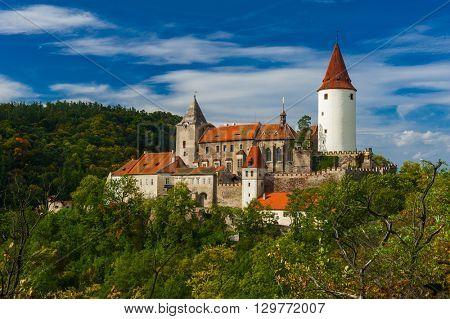 Famous Czech medieval castle of Krivoklat, central Czech Republic