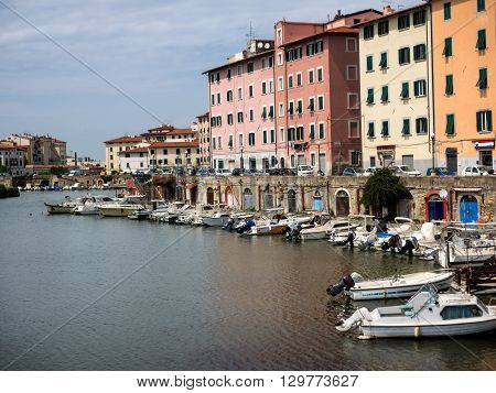 Canals in Livorno Tuscany Italy - also called little Venize