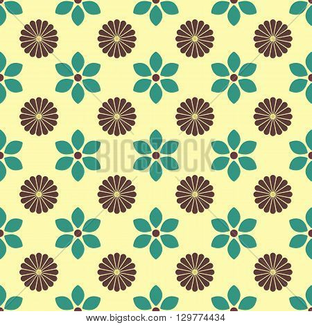 Floral seamless pattern of various bud vector illustration.