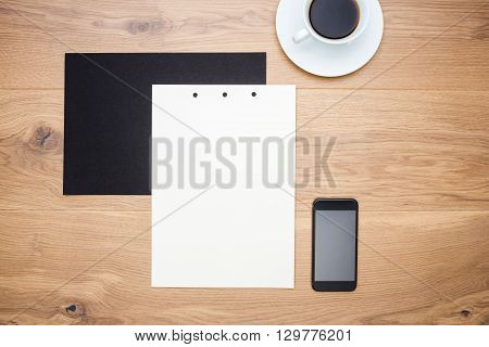 Coffee, Paper And Smartphone