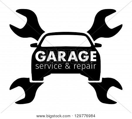 Auto center, garage service and repair logo, Vector Template