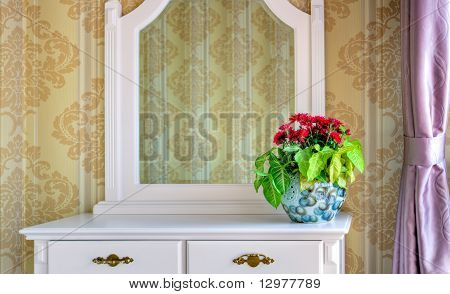 Flowers Decoration On A Dressing Table