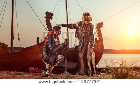 North Princess Is Blessing The Warrior.