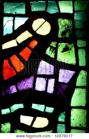 Multicolored Stained Glass Window