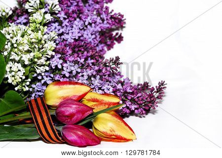 spring bouquet of lilacs. The beauty of spring.