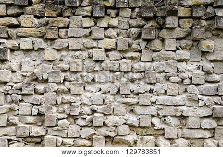 Architectural background - Wall of the fortress in Kerch