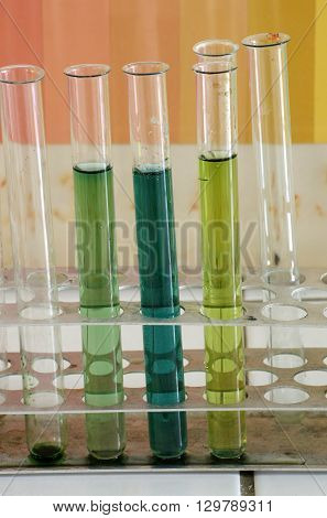 Test tubes science objects group  chemical theme.