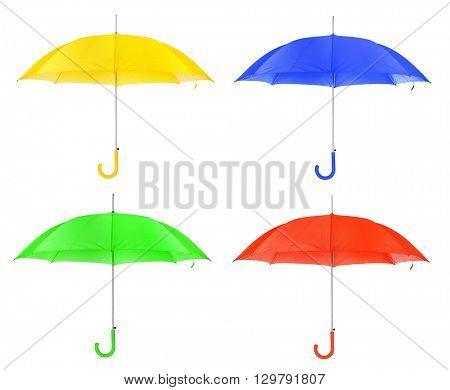 Set of umbrella isolated on white background