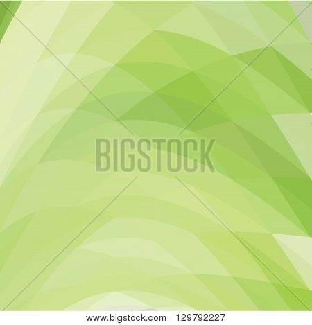green abstract polygonal background - vector illustration.