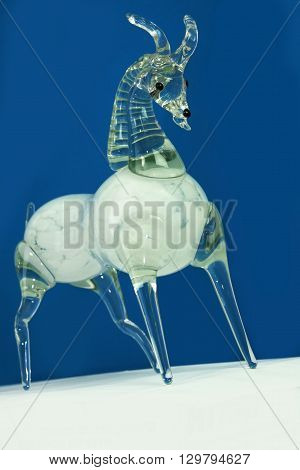 Capricorn in the form of glass figurine