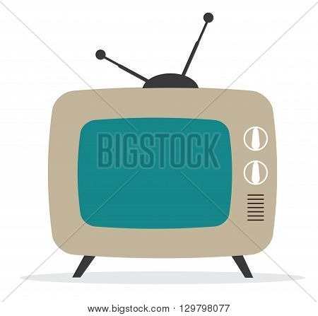 vector illustration of a retro tv isolated