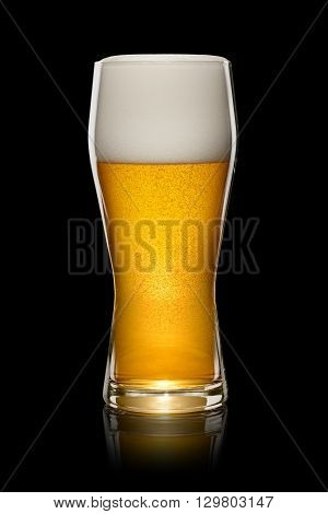 Glass Of Beer On Black