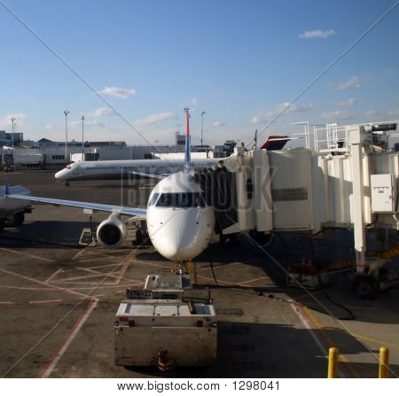 Plane With Jetway