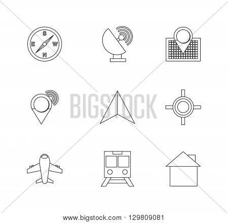gps set  icon design, vector illustration eps10 graphic