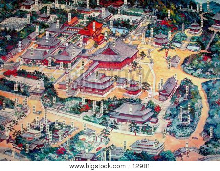 Japanese Temple Map
