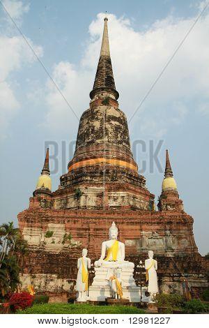 Wat Yai Chaimongkol, in Ayuthaya province, Thailand.