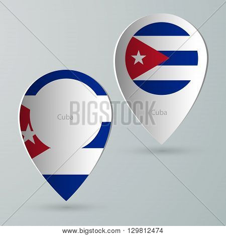 paper of map marker for map and navigators cuba