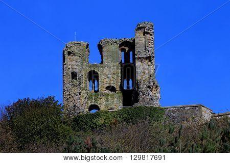 Scarborough Castle Ruins, North Yorkshire, England.