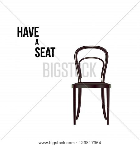 Have a seat. Chair isolated on white vector illustration