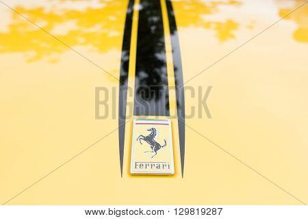 Yellow Ferrari Logo