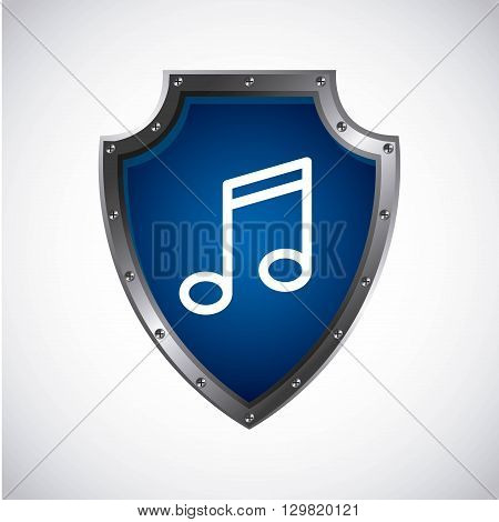 music note design, vector illustration eps10 graphic