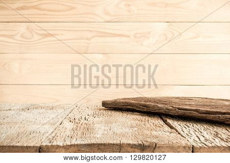 brown wood background and old wooden table.