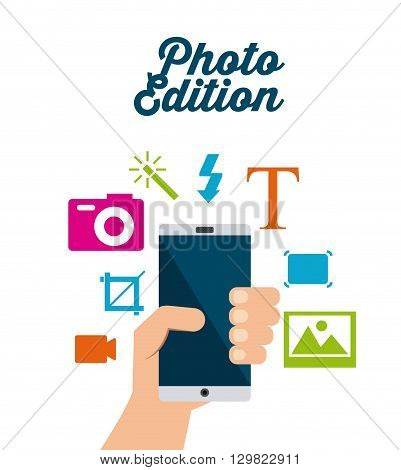 photo edition  design, vector illustration eps10 graphic