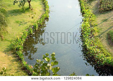 Water Way Brook Garden Park