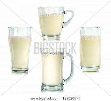 Glass Of Milk Isolated On The White Background