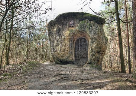 The Chapel of Mary Magdalene - chapel carved from a single piece of a huge sandstone boulder