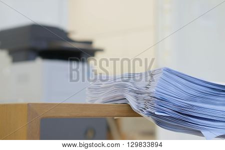 Stack Of Document After Printing