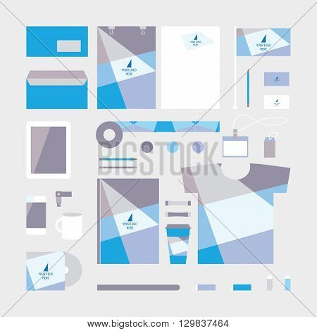 Vector corporate identity design. Sorporate identity set for company. Business stationery. Business corporate identity template. Branding elements. Sorporate identity icons. Corporate template