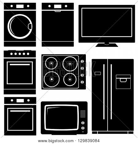 Household icon. Home Appliances icon. Vector illustration isolated on white background.