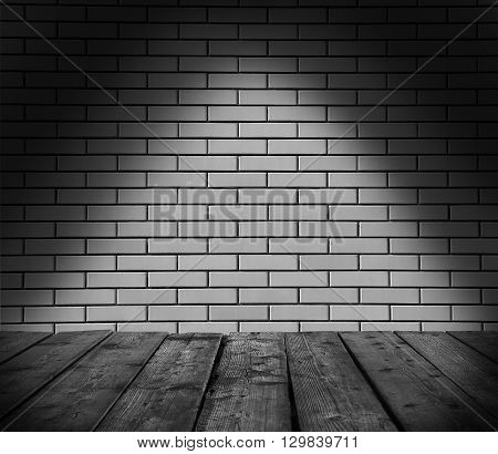 a gray brick wall with light background